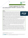 Nutritional Supps for Anxiey Systematic Review 2010