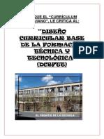 Critica Al Diseño Curricular Base de La Formación Técnica y Tecnológica