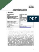 Formato Programa Academico Teoría Del Poder