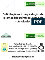 Prescricao e Interpretacao de Exames Laboratoriais Pelo Nutricionista