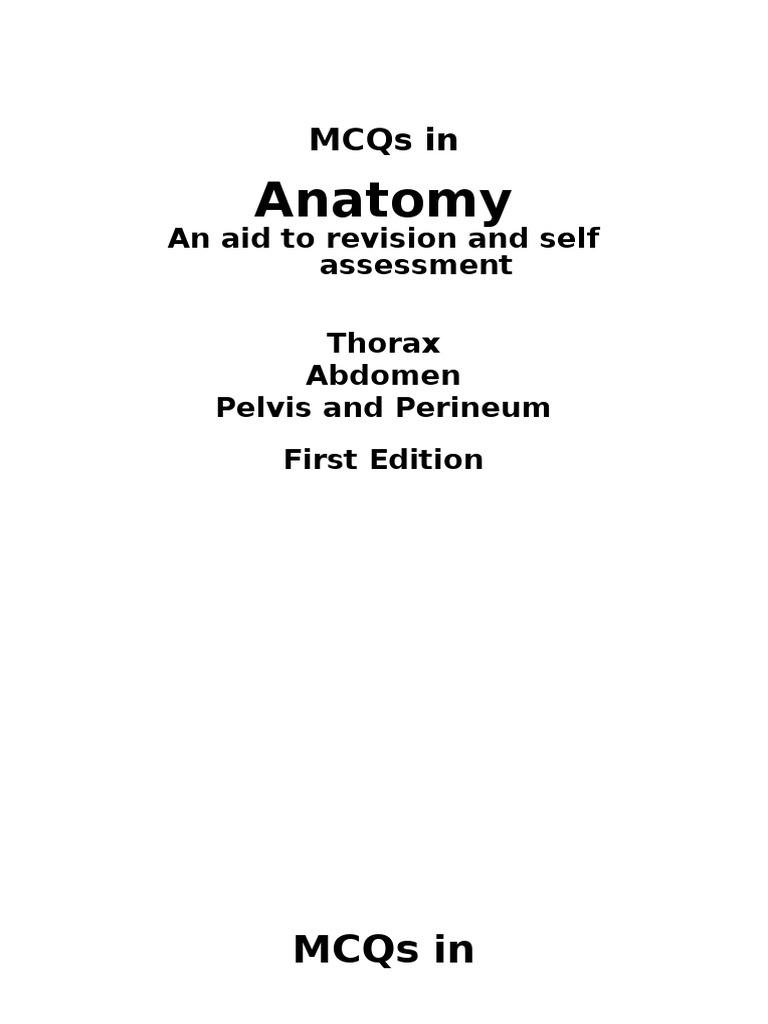 Anatomy mcq abdomen and thorax aorta coronary circulation ccuart Choice Image