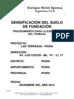 Densificación Del Suelo de Fundación - Procedimiento de Trabajo Obra Los Cocos