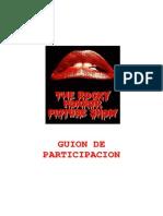 Rocky Horror Show Guión Completo Interactivo