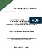 Investigacion de La Huella Ecologica Tesis