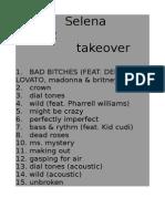 Selena Gomez - Takeover Fake Album