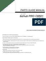 Konica-Minolta C6501 Parts Guide Manual