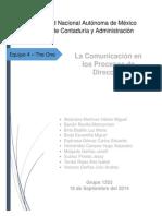 La Comunicación en Los Procesos de Dirección