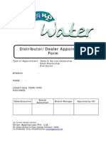 Dealer Appointment Form