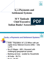 Cards E-Paymensts and Settlement Systems