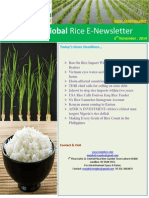 6th November,2014 Daily Global Rice E-Newsletter by Riceplus Magazine