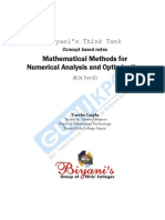 Mathematical Methods for Numerical Analysis and Optimization