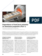 Dr S Hogewoning Dependence of Hard Burn Potential on Limestone Properties-Englisch