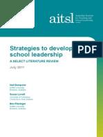 Strategies to Develop School Leadership