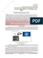 Design of VGA Controller using VHDL for LCD Display using  FPGA
