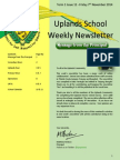 Uplands School Weekly Newsletter - Term 1 Issue 12 - 7 November 2014