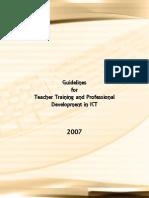 Guidelines Teacher Training