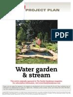 Water Garden and Stream