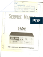 Kenwood KA801 Integrated Amplifier Service Manual