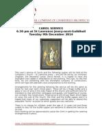 Carol Service Calling Notice 2014