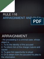 Crimpro Report - Rule 116 (2)