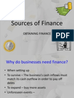 As.sources of Finance