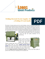 Logo Weld Welding Electrode Powder Supplier