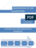 FPGA Implementation of DSP Algorithms