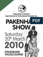 Pakenham Show 2010 Horse Schedule