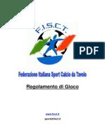 Regolamento Subbuteo FISCT