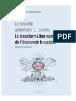 Rapport Philippe Lemoine - La Nouvelle Grammaire Du Succès - La Tranformation de l'Économie Française