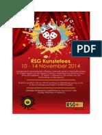 Program vir die 2014 RSG Kunstefees