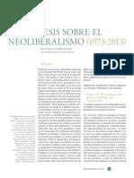 8 Tesis Sobre El Neoliberalismo - Puello Socarras - Copia
