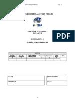 EXP3-Class a Power Amplifier - 2013_14