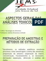 Aspectos Gerais Das Análises Toxicológicas
