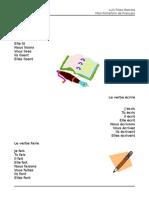 Fiche Informative - Le Verbe Lire, Dire, Écrire, Faire Et Apprendre PF