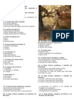 Teste de Lingua Portuguesa Fada Oriana 5º Ano