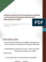 papel de la triamcinolona, anti-VEFG y terapia fotodinamica en la DMAE