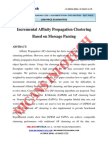 Incremental Affinity Propagation Clustering Based on Message Passing - IEEE Project 2014-2015