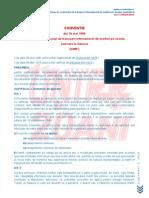 Cmr Conventia Referitoare La Contractul de Transport International de Marfuri Pe Sosele La Care Romania a Aderat Prin Decretul Nr 451 1972