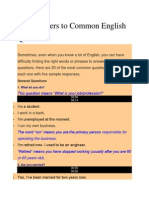 100 Answers to Common English Questions