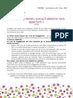 Synthèse - Contribution FdC Nov. 2014