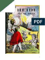 Johanna Spyri Heidi Heidi Jeune Fille