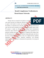 Top k Query Result Completeness Verification in Tiered Sensor Networks- IEEE Project 2014-2015