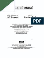 Title of Show Libretto (1)