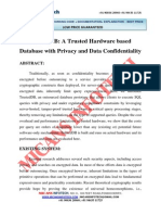TrustedDB a Trusted Hardware Based Database With Privacy and Data Confidentiality- IEEE Project 2014-2015