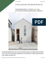 House-shaped Doorways Puncture Hazukashi House by Alts Design Office