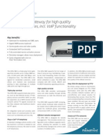 PacketFront DRG 580 Datasheet