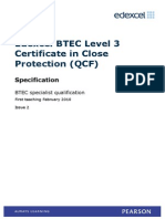 BTEC Cert Close Protection Issue3