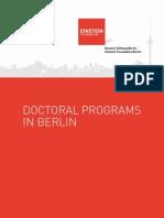 Berlin Doctoral Programs 2014