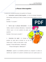 La Phrase Interrogative PF